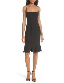 Mandy Flounce Hem Dress by Milly