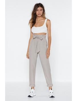 Check In Paperbag Pants by Nasty Gal