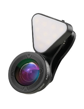 3 In 1 Light With Lens Kit For Smartphones (Black) by Um Aid