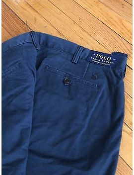 $90 Polo Ralph Lauren Stretch Straight Fit   Sits Below Waist   Blue   42 X30 by Polo Ralph Lauren