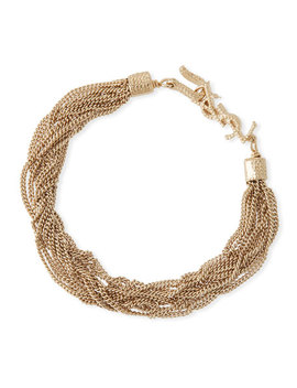 Loulou Multi Chain Bracelet by Saint Laurent