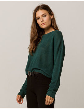 I+Ivy & Main Crop Emerald Womens Sweater by Ivy & Main