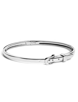 Thin Sterling Silver Buckle Bracelet by Shinola Jewelry
