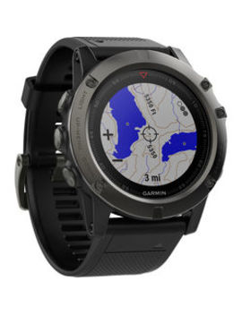 Fenix 5 X Sapphire Edition Multi Sport Training Gps Watch (Slate Gray, Black Band) by Garmin