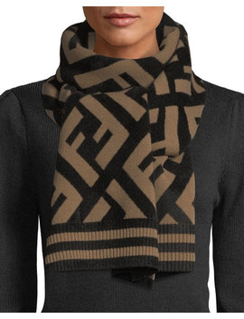Knit Macro Ff Scarf by Fendi