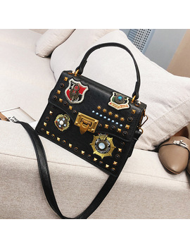 2018 Luxury Handbags Women Bag Designer Vintage Badge Small Shoulder Crossbody Bags For Women Messenger Bags Bolsa Feminina by Taliyah