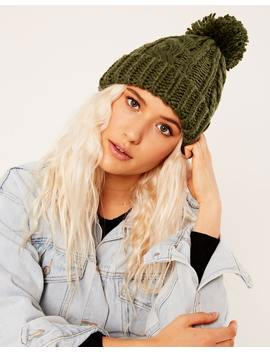Cable Knit Beanie by Glassons