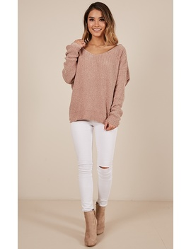 Beyond Me Velvet Knit Sweater In Mocha by Showpo Fashion
