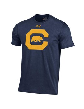 Cal Bears Under Armour Alt Logo Charged Cotton Performance T Shirt   Navy by Under Armour