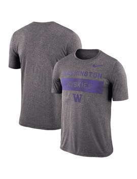 Washington Huskies Nike 2018 Sideline Lift Performance T Shirt   Charcoal by Nike