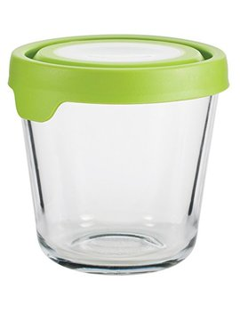 Anchor Hocking 12191 Ahg17 Trueseal Glass Food Storage Containers Airtight Lids, 3.5 Cup Tall, Green by Anchor Hocking
