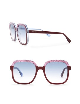 Women's Glint 53mm Square Sunglasses by Jimmy Choo