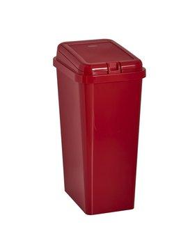 Wilko Rectangular Touch Top Bin Red 45 L by Wilko