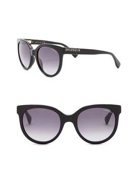 52mm Round Acetate With Swarovski Crystal Sunglasses by Lanvin