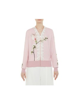 Emylou Harmony Print Zip Cardigan by Ted Baker