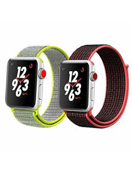 I Moway Apple Watch Band 38mm/42mm Sport Loop I Watch Band (Adjustable Velcro) Apple Watch Series 1/2/3 Sport Edition by I Moway