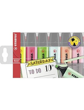 Highlighter   Stabilo Boss Original Wallet Of 6 Assorted Colours by Stabilo