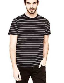 Stripe Print T Shirt by Guess
