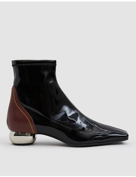 Stretch Patent Chelsea Boot by Ellery