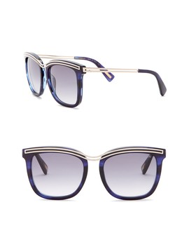 54mm Modified Square With Metal Detail Sunglasses by Lanvin