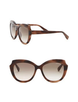 54mm Modified Butterfly Sunglasses by Lanvin