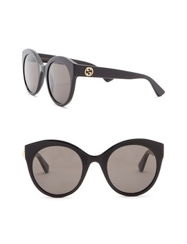 52mm Round Cat Eye Sunglasses by Gucci