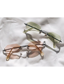Tiny Vintage 90's Rimless Sunglasses Nos by Brillies Sunglasses