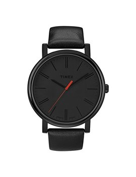 Timex Easy Reader Black Leather Strap Mens Watch T2 N794 by Timex