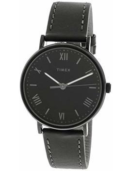 Timex Men's Southview Tw2 R80300 Black Leather Quartz Fashion Watch by Timex