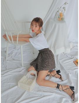 Chunky High Heel Wraparound Strap Sandals by Stylenanda