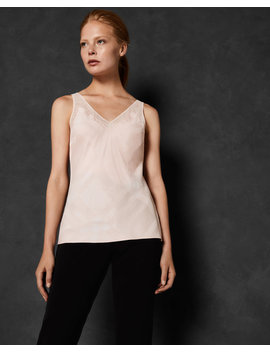 V Neck Check Detail Cami by Ted Baker