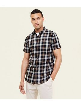 Black And Mustard Check Short Sleeve Shirt by New Look