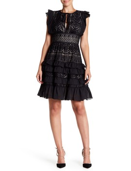Ruffled Keyhole Dress by Monique Lhuillier