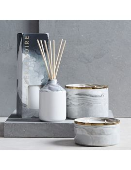 Marbled Homescent Collection, Black/White, Diffuser by West Elm