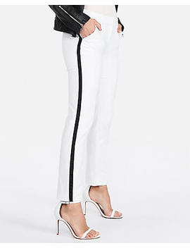Mid Rise Side Stripe Columnist Ankle Pant by Express