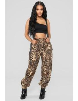 Don't Get Suspended Pants   Leopard by Fashion Nova