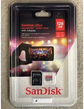 San Disk Ultra Micro Sdxc Uhs I Card W/ Adapter 128 Gb 100 Mb/S Brand New Sealed by San Disk