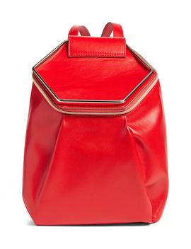 metal-handle-faux-leather-convertible-backpack by leith