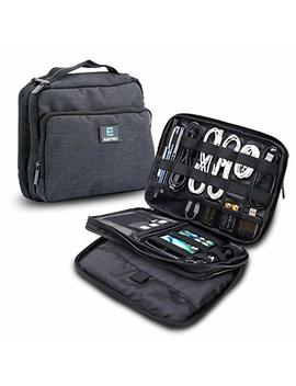Elec Trek Products Cable Organizer Bag  Water Resistant Bag Organizes And Protects Usb Drives, Memory Cards, Chargers, Cables, Cords, Adaptors And Other Device Accessories. by Elec Trek Products, Llc