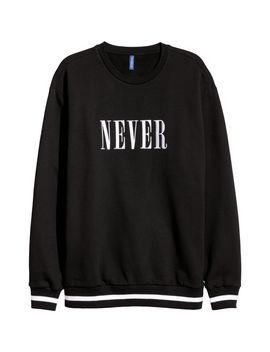 Sweatshirt Med Tekstbroderi by H&M