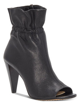 Addiena Smocked Cone Heel Booties by Vince Camuto