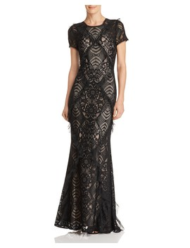 Embellished Lace Gown by Bcbgmaxazria