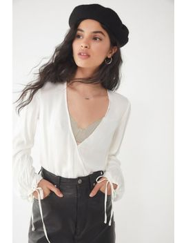 Uo Georgie Surplice Top by Urban Outfitters