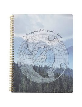 Large Spiral Notebook Globe Explore Beyond by Indigo Paper