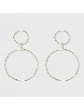 Open Work Circles With Bar Post Back Metal Hoop Earrings   A New Day™ by Shop All A New Day™