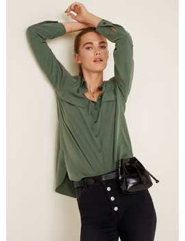 Decorative Pocketed Shirt by Mango