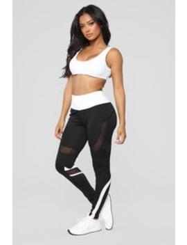 Nothing's Blocking My Way Leggings   White by Fashion Nova