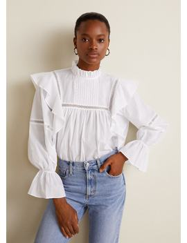Ruffled Cotton Blouse by Mango