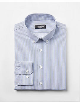Extra Slim Fit Slim Button Collar Performance Shirt by Express