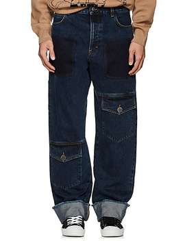 Wide Leg Cuffed Cargo Jeans by J.W.Anderson